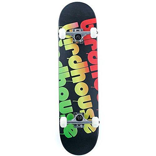 Birdhouse Skateboard Komplett Triple Stack 7.75 Inches Rasta (One Size , Schwarz)