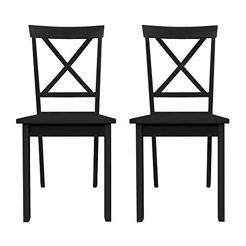 Furniture 247 - Set de 2 sillas de comedor, blanco