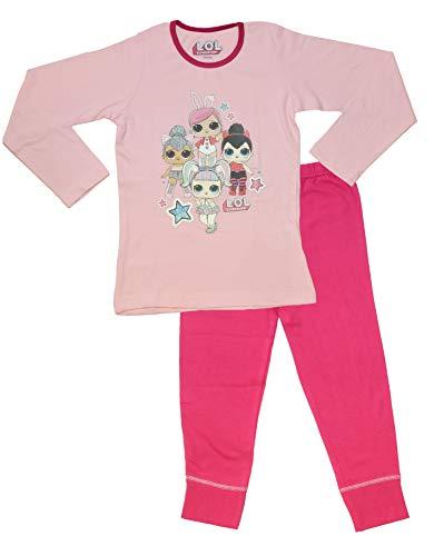 L.O.L Surprise Dolls Pyjama für Mädchen aus weicher Baumwolle PJs Pyjama Konfetti Pop Pjs Lil Sisters (9-10 jahre, 4 Zeichen hellrosa) (Story Mädchen Toy Zeichen)