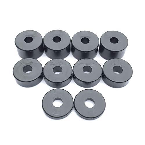 Nylon Spacer Unentschieden Unterlegscheiben schwarz 8mm (10Stück) 4x 15mm, 4x 10mm, 2x 5mm