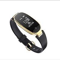 ZfgG Frauen Smart Armband S3 Herzfrequenz Zähler Schritt Bluetooth Sport Verschleiß Armband Display IP67 Tiefe Wasserdichte Fitness Tracker Für Ios Android Perfekter Wohnassistent (Farbe : C)