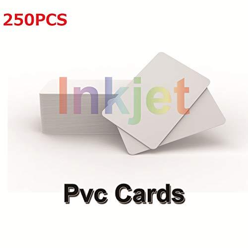 (Tintenstrahl Druckbare PVC Identifikation Karten (250 Stück) Kompatibel Mit Epson und Canon Tintenstrahl Drucker, CR80 30 MIL,Wasserdichtes Material, Beide Seiten Können Bedruckt Werden-TimesKey)
