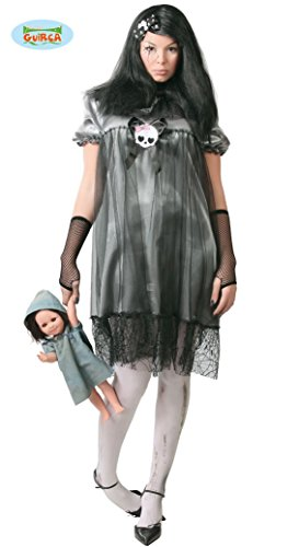 Zombie Kostüm Baby Doll - Horror Puppe Baby Kostüm für Damen Halloween Damenkostüm Halloweenkostüm Gr. M-L, Größe:M