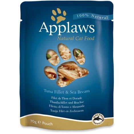Applaws Katze Beutel Thunfischfilets & Brachse, 12er Pack (12 x 70 g)