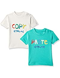 MINI KLUB Baby Boy's Plain Regular fit T-Shirt (Pack of 2)
