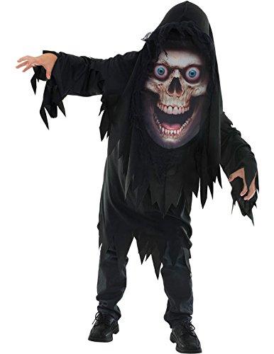 Halloween Sensenmann Tod Kostüm für Kinder Large