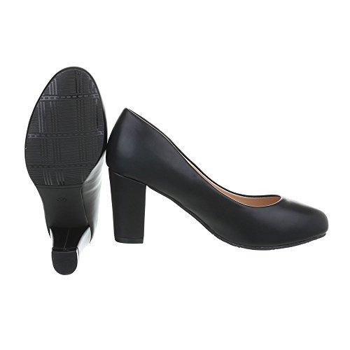 Ital-Design Scarpe da Donna Scarpe Col Tacco Tacco Gattino Classico Scarpe Col Tacco nero HS36