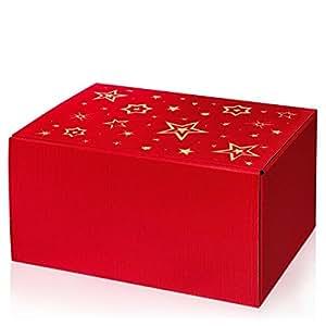 1 Verpackungseinheit (10 Stück) Präsentkartons<br/>Modern Rot Stella<br/>6er Wein/Sekt inkl. Einlage<br/>L 380 x B 250 x H 190 mm