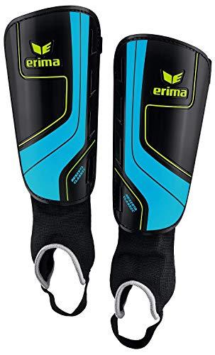 Sarango Sport Erima Resista Classic Schienbeinschoner schwarz blau Neu, Größe:S