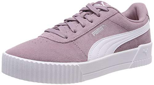 Puma Damen Carina Sneaker, violett (Elderberry-Puma White-Puma Silver), 41 EU - Damen Leder Halbschuhe Schuhe