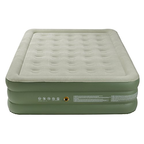 41IC1HSeSaL. SS500  - Coleman Airbed Maxi Comfort Bed Raised King, Camping Mat, Flocked Air Bed, Inflatable Double Height Air Mattress, Blow…