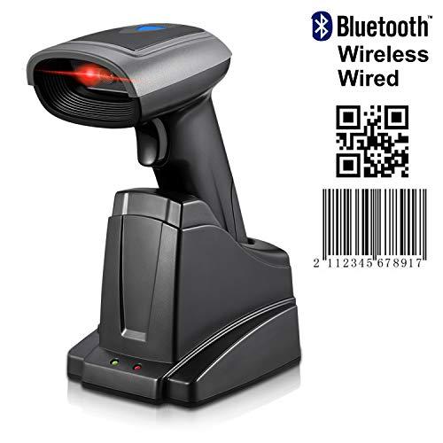 Barcodescanner MUNBYN 1D/2D Bluetooth Barcode Scanner Barcodeleser