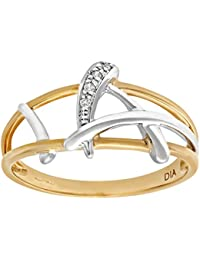 Bague Femme - Or jaune (9 carats) 1.5 Gr - Diamant 0.005 Cts - PR06381Y-J