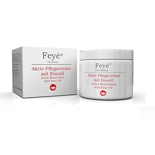 Feyè® Aktiv-Creme mit Emuöl - Hautcreme bei Psoriasis (Schuppenflechte), Ekzemen, sehr trockener Haut und rissiger Haut - Bei Juckreiz, Rötung und Entzündung - Salbe, Akut-Pflege, Vorsorge, Prävention (Shampoo Emu-öl)