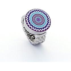 Morella señorías click-botón del anillo y foto botón de flores