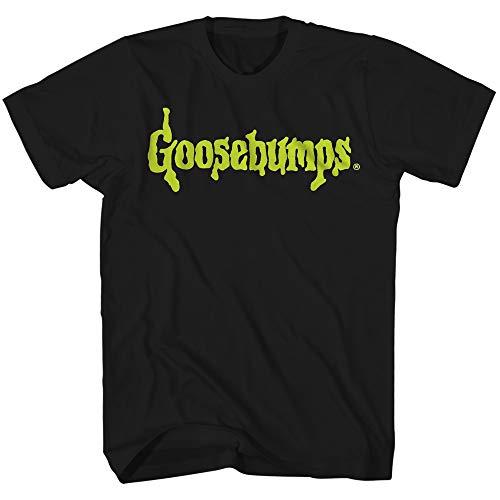 Goosebumps Slime Logo Glow in The Dark Book Series Classic Halloween Herren T-Shirt - Schwarz - Groß