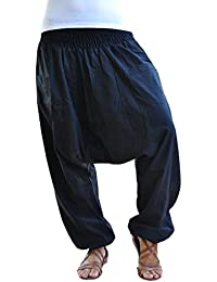 bonzaai sarouel femme mode hippie pantalon de yoga unüberlegt schwarz