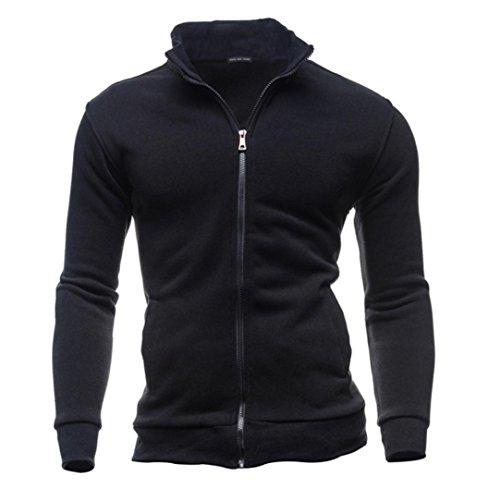OverDose chaquetas hombre invierno abrigo de la rebeca de la cremallera del ocio