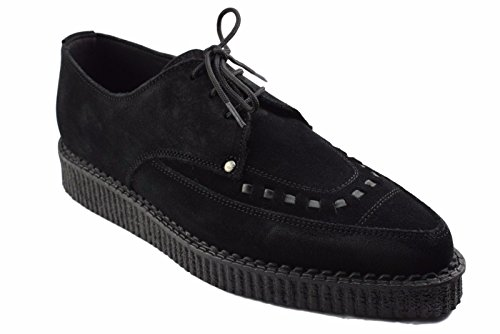 STEELGROUND Shoes Black Suede Creepers Lace Up Pointed for sale  Delivered anywhere in UK