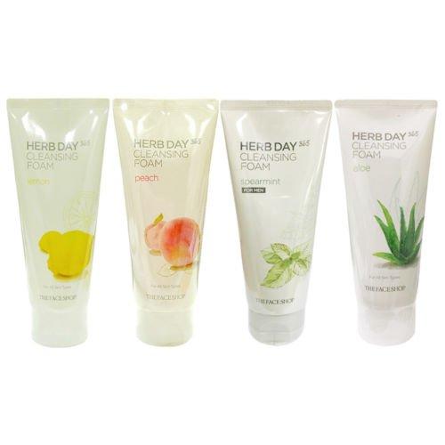 THE FACE SHOP Herb Day 365 Cleansing Foam Lemon - Face Shop-herb