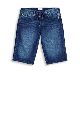 edc by ESPRIT Herren Shorts Blau (Blue Dark Wash 901)