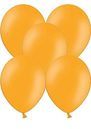 100 Luftballons Ø 28 cm Farbe frei wählbar Ballons Helium Luftballon (Orange)