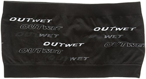 Outwet Ow-Band - Cinta de pelo y frente antisudor térmica unisex, color negro, talla única