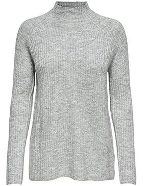 Only Onlorleans L/S St Highneck Pullover Knt, suéter para Mujer
