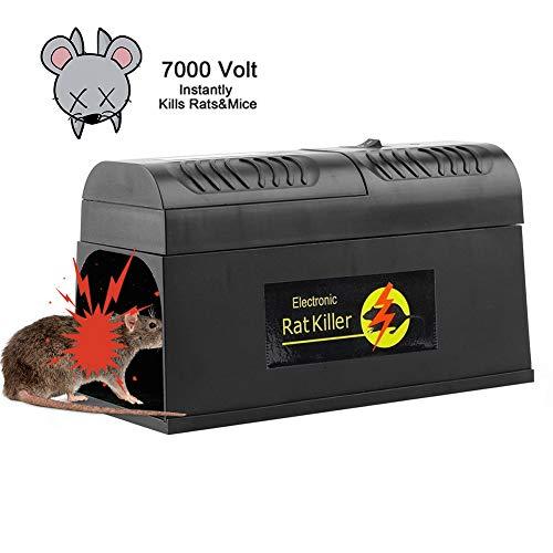 Comtervi Elektronische Rattenfalle Mäusefalle Professionelle Rattenköderstation Multi-Kill für Mäuse Kastenfalle für Garten Haus EU Plug (1 Pack) (Elektronische Rattenfalle)