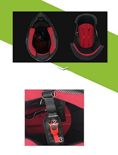Woljay Off Road Helm Motocross-Helm Motorradhelm Motocrosshelme Fahrrad ATV (L, Schwarz) - 3