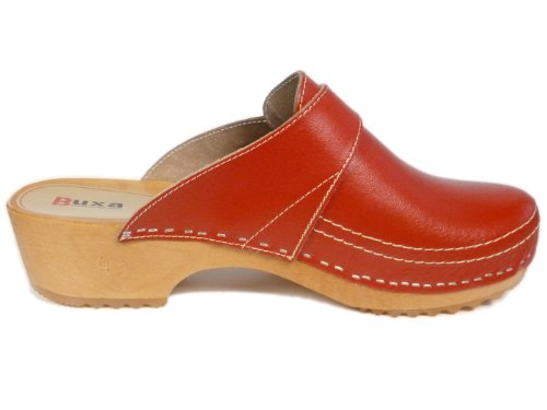 Buxa, Damen Clogs & Pantoletten Rot