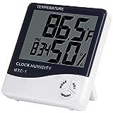 A-szcxtop - Reloj Digital LCD con Alarma y Monitor de Humedad