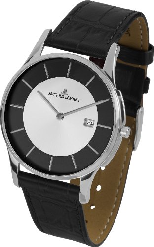 Jacques Lemans Unisex Watch London 1–1777F Analogue Display and Gold Leather