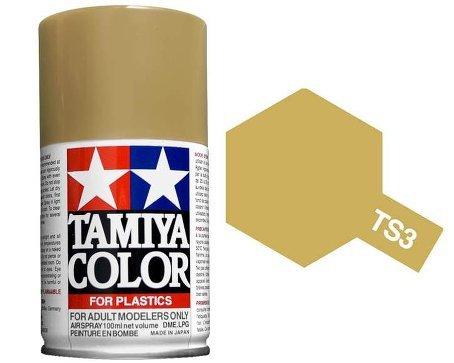 Tamiya 85003. Spray TS-3. Pintura esmalte color Amarillo Oscuro
