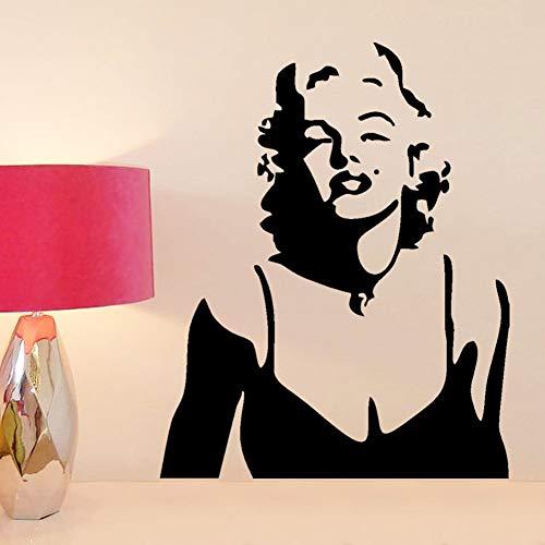 Wandaufkleber Schlafzimmer Mode Marilyn Monroe Home Decal Wohnzimmer Schlafzimmer Dekor