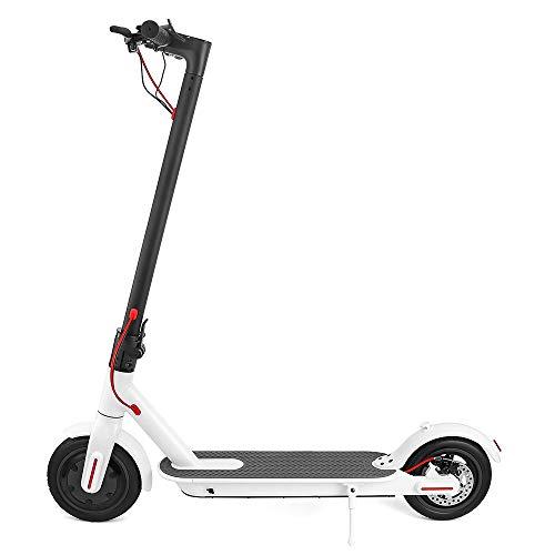 XIAYJ Scooter Elettrico Smart Folding Electric Longboard Hoverboard Skateboard con Luce a LED 2 Ruote E4,White