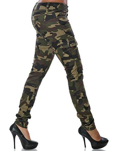 Damen Camouflage Hose Skinny (Röhre) No 14099 Mehrfarbig