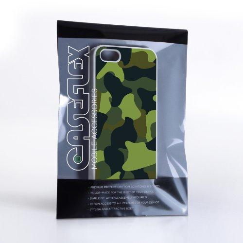 Caseflex Coque iPhone 5 / 5S Etui Vert Camouflage Dur Housse
