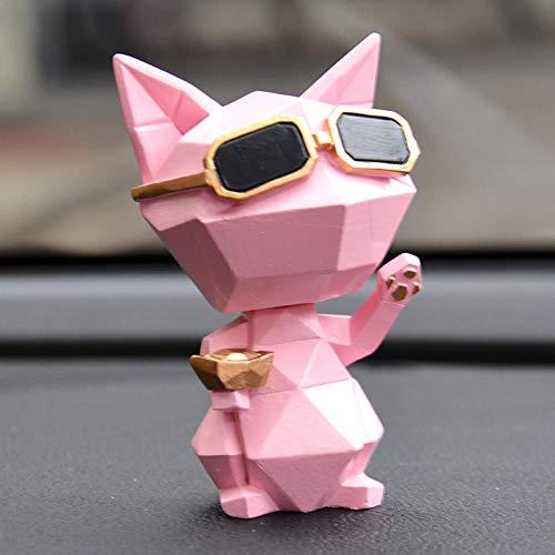 Interieurleisten Glückliche Katze, kopfschüttelndes Auto, hochwertige Innenausstattung@Glückliche Katze rosa