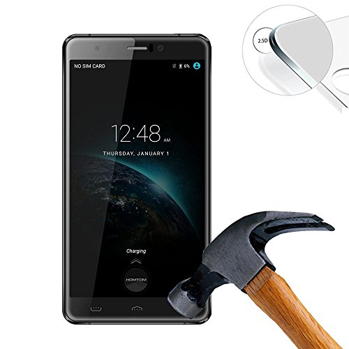 2 X Pack Hart Panzerglasfolie Schutzfolie für Homtom HT10 Pro Zoll Tempered Glass Folie Screen Protector Panzerfolie Glasfolie(Nur den flachen Teil abdecken)