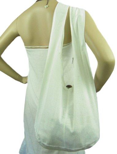 BenThai Products, Borsa a spalla donna blu Light Blue Height 12 Bianco (bianco)