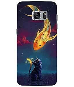 Case Cover Fish Printed Multicolor Soft Back Cover For Samsung Galaxy S7 EDGE