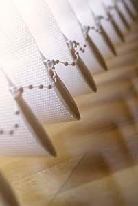 Vertikal Lamellen Vorhang / Vertikal Jalousie Vorhang / Vertikal Anlage Breite 200 x Höhe 250 cm in grau von Sunfree