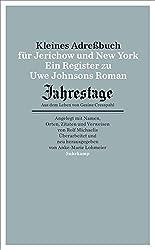 """Kleines Adressbuch für Jerichow und New York: Ein Register zu Uwe Johnsons Roman """"Jahrestage. Aus dem Leben von Gesine Cresspahl"""". (suhrkamp taschenbuch)"""
