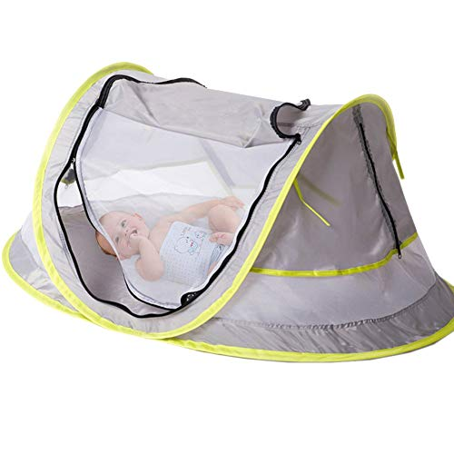 YIDAINLINE Baby Pop Up Travel Cot Bed Tent Mosquito Net Pillow Mesh Bag Included