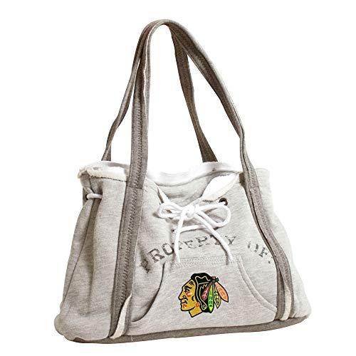 Pro NHL Hoodie Geldbörse, Damen, 550404-HWKS-GREY, Chicago Blackhawks, Gray Blackhawk Pullover Hoodie