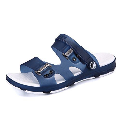 Sandales, chaussures de plage d'été, trou, chaussons anti-dérapants pour hommes tongs, sandales, men's remorquer A721 blue