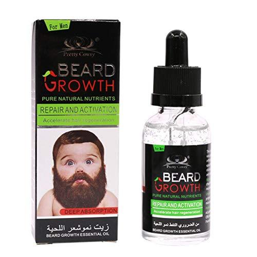 Bartöl für Männer zur Bartpflege - 40ml Bart Wachstum flüssiges Haar Schnurrbart ätherisches Öl - Fördert Und Beschleunigt Ihren...