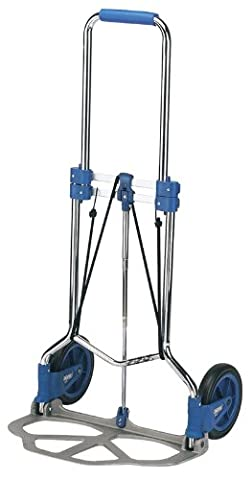 EXPERT FOLDING SACK TRUCK - Expert Quality, high quality tubular steel frame with heavy duty cast aluminium nonslip base plate. Folds flat for easy transportation. Foam grip handle for user comfort. Integral safety pin feature to prevent wheel closure when in use. Display