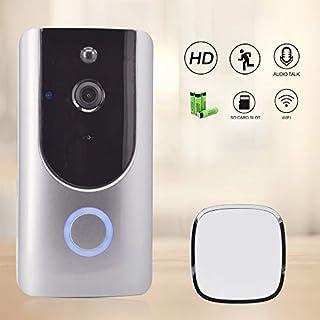 QUARK Drahtlose Video Doorbell, WiFi Smart Doorbell 720P HD Kamera mit Real-Time 2-Way Talk, Night Vision, PIR Motion Detection und App Remote Control für iOS und Android